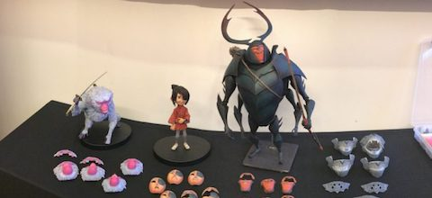 LAIKA Studios characters on display in San Francisco.