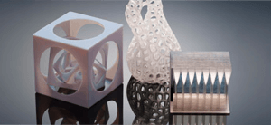 elegant, and higly detailsed, elaborate 3D printed parts