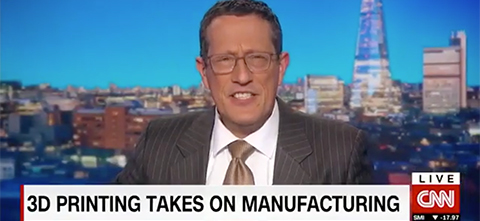 Still from 3D Printing takes on Manufacturing CNN Story