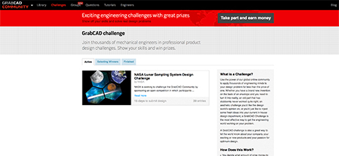 GrabCAD Challenges Screen Shot