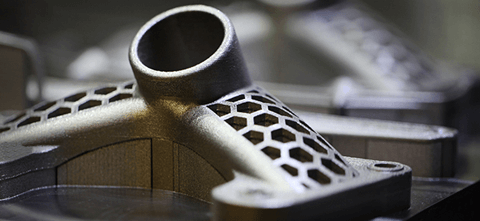 a 3D printed part created by Stratasys Direct Manufacturing