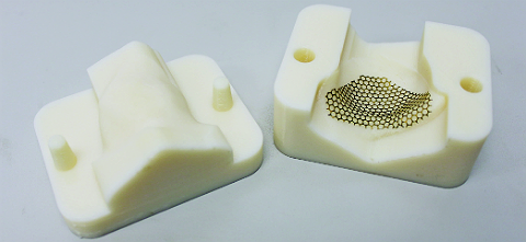 Facial implant mold made from FDM PC-ISO