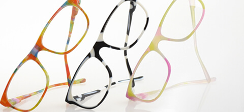3 Pair of glasses 3D Printed with VeroFlex Material