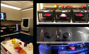 The visible heart lab uses Makerbot and Stratasys uPrint 3D Printers to print hearts.