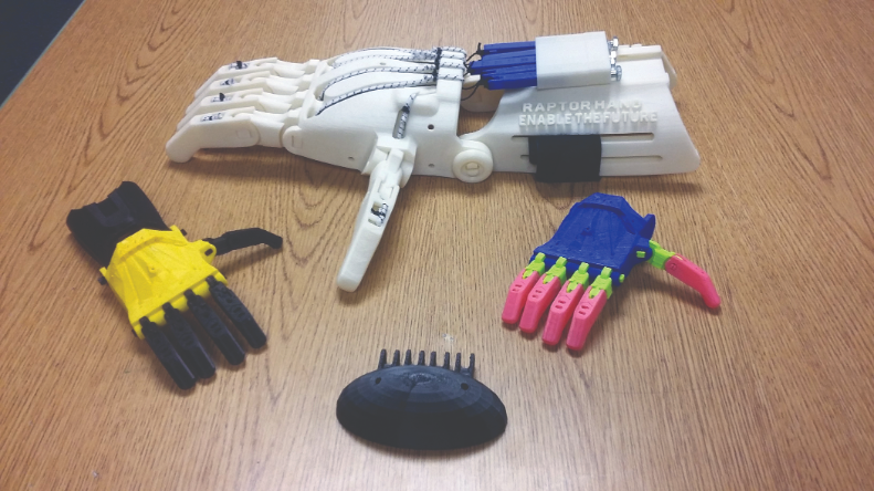 Cedar Park Elementary School students designed adaptations for a prosthetic hand.