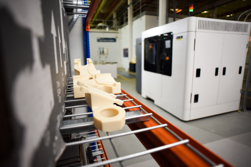 3D printed tooling produced on one of GKN Aerospace's 3D printers.