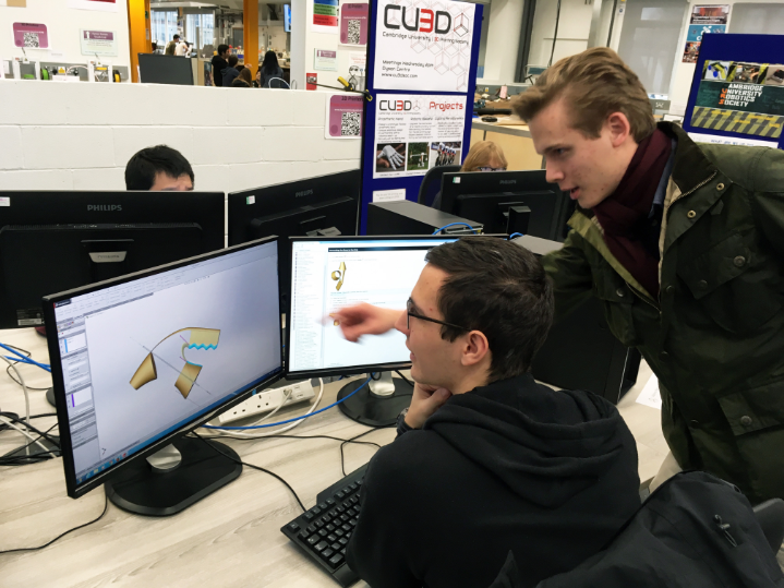 Students  taking on new challenges with 3D printing.