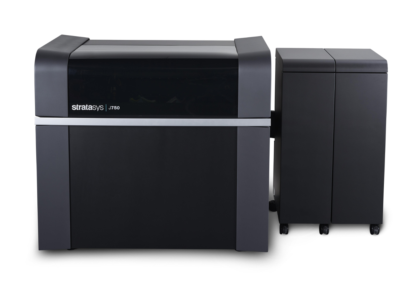 Stratasys J750 3D printer seen from the front.
