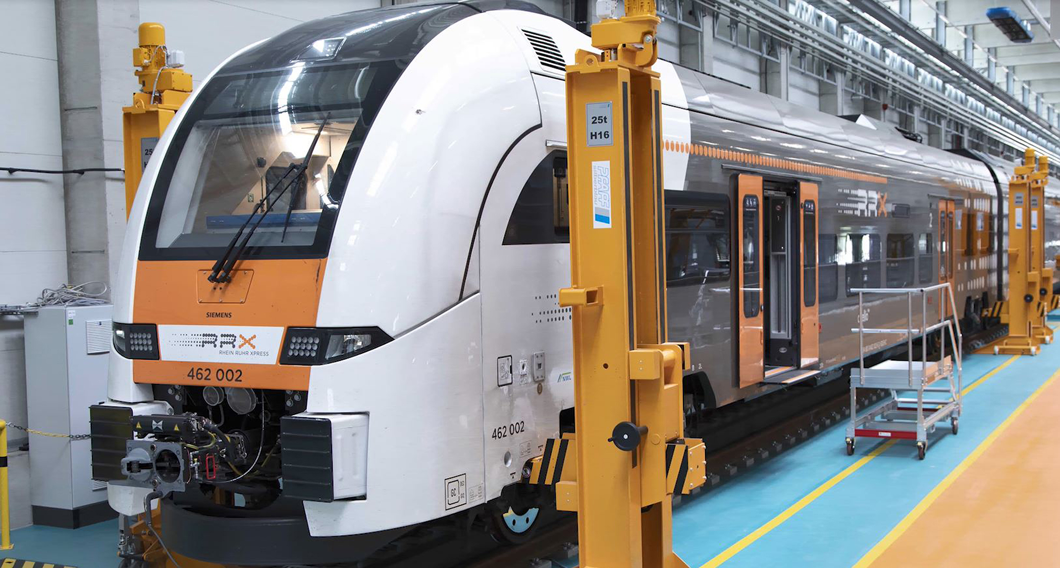 Siemens mobility rail center with train