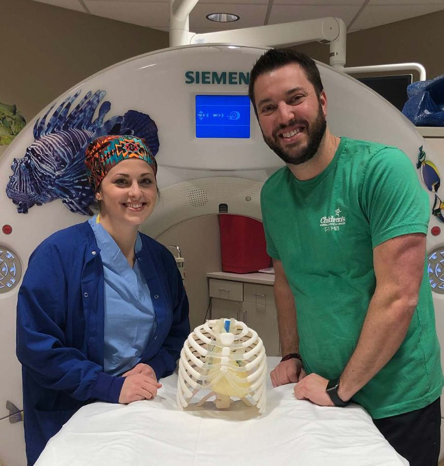 3D printed phantom at Children's Hospital and Medical Center in Omaha.