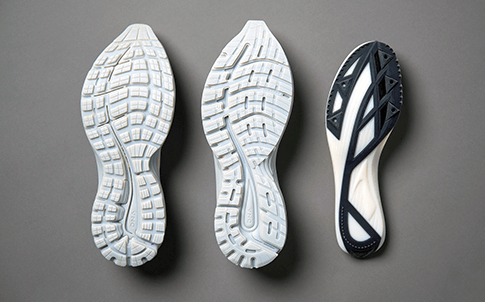 Brooks' 3D printed midsole and outsole prototypes