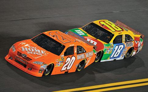 Joe Gibbs Racing places an FDM  lter housing on each of its three cars, each time they race.