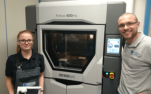 With the in-house Stratasys Fortus 450mc Production 3D Printer, Christian Maier and his team can now produce  xtures for their machines in hours instead of days.