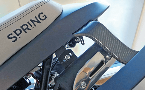 3D printed motorcycle rear fender support
