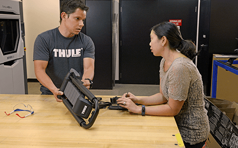 Designers at Thule discuss concept validation for their Hull A Port XT kayak carrier.