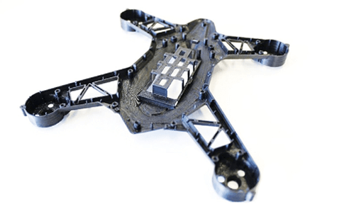 Toy State design team 3D printed frame of a drone with high precision and strength using PC-ABS material.