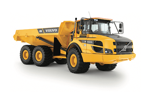 A Volvo A30G Articulated Hauler.