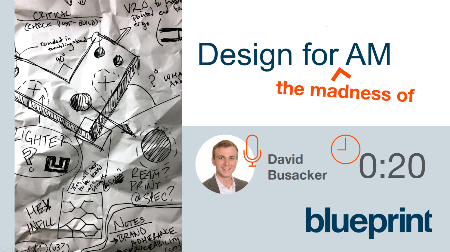 Blueprint DFAM Design for Additive Manufacturing Webinar Preview