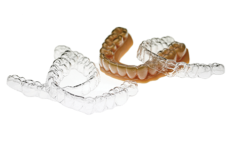 3D printed clear, dental retainers