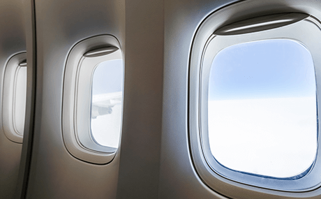 Custom 3D printed airplane windows