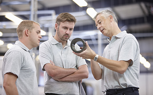 3 Men discussing 3D Printing Solutions