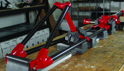 FDM Nylon 12CF parts on a bike frame