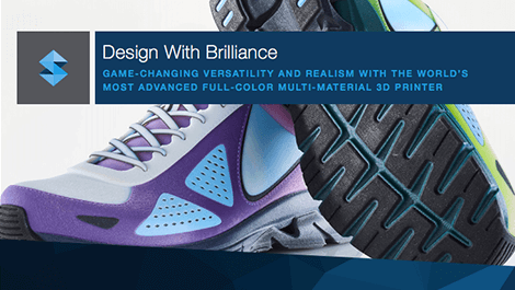 "a photo of the Stratasys J750 eBook, ""Design with Brilliance"""