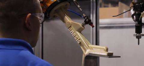 A 3D printed robotic end-of-arm tool