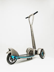 "The first of its kind, this ""intelligent"" electric scooter was prototyped 50% faster using Stratasys 3D printed parts"