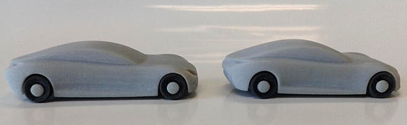 aerodynamic auto testing, 3d printer