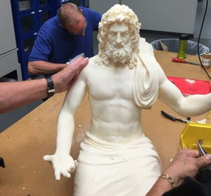 The mighty Zeus returns 1,500 years later 3D printed in durable, engineering-grade thermoplastic produced on the Stratasys Fortus 900mc Production 3D Printer