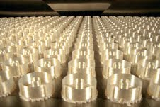 500 toroid housing are produced overnight with a Stratasys FDM-based Fortus 3D Printer.