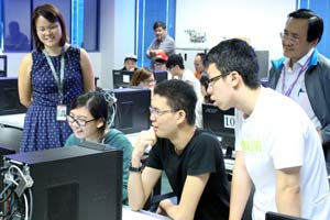 Students at Temasek Polytechnic in Singapore learn about the basics of 3D printing using Stratasys' education curriculum