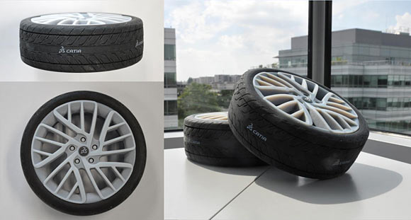 rubber 3d printing, tires