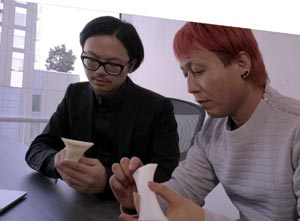 Designer Kota Nezu (on right) and 3D modeling artist Sun Junjie